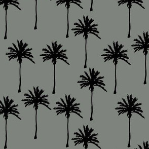 Gray with Black Palm Trees