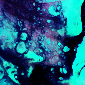 Acrylic Pouring Turquoise & Pink