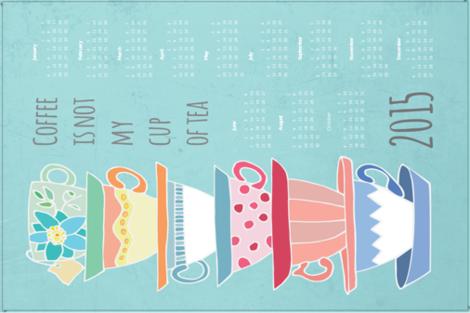 Cup of Tea 2015 fabric by pamela_hamilton on Spoonflower - custom fabric