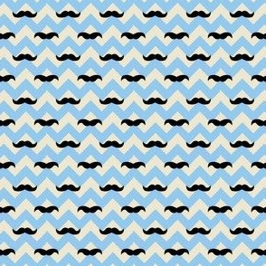 Flying Mustaches - Blue (Small)