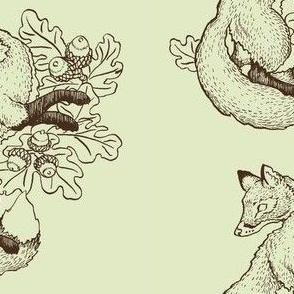 Dancing Green Fox