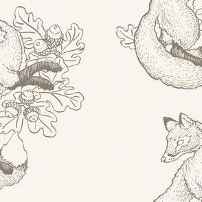 Dancing Fox in Cream