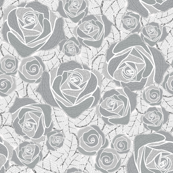 Retro Rose Gray White