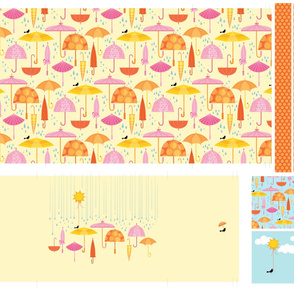 Pretty Parasol_Pillow Cut and Sew
