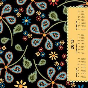 Floral Paisley Tea Towel