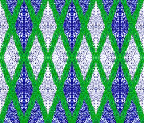 Ottoman Daffodil Garland fabric by joancaronil on Spoonflower - custom fabric