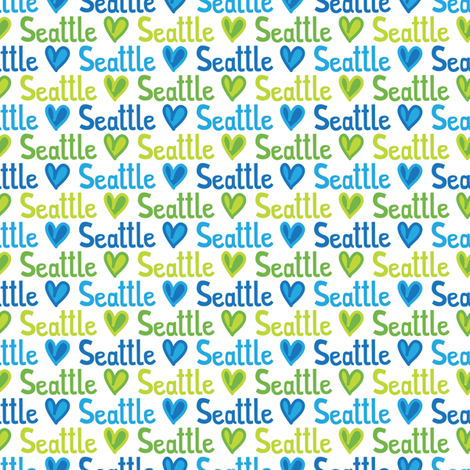 Seattle Love (Small) fabric by robyriker on Spoonflower - custom fabric