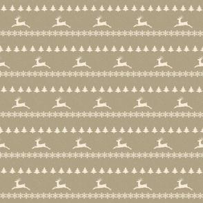 Raindeer Christmas Snowfall-cream puff