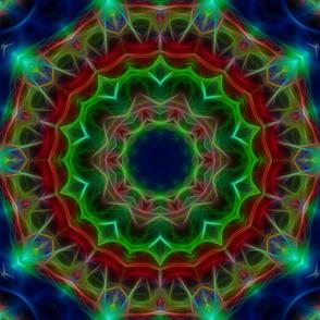 Blue Green Lotus kaleidoscope