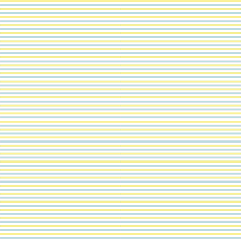 Tiny Combo Stripes Lt Yellow, Lt Blue, White fabric by dollycraft on Spoonflower - custom fabric