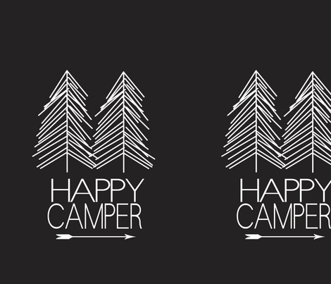 happy_camper_black fabric by kristenbarstad on Spoonflower - custom fabric