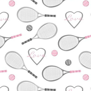 Tennis Love Pattern