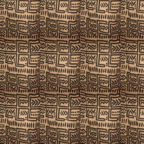 African Brown Black Fabric