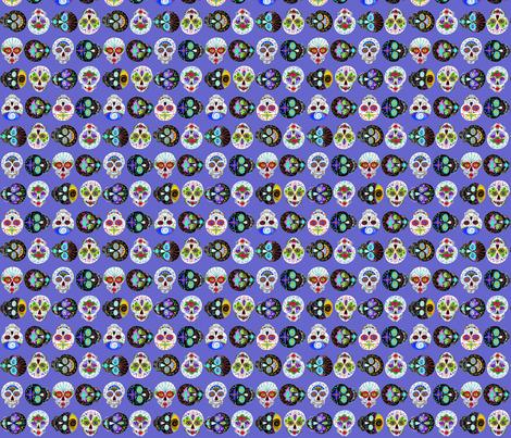 sugarskullspurple fabric by mejo on Spoonflower - custom fabric