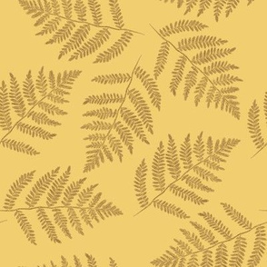October ferns - counterchanged