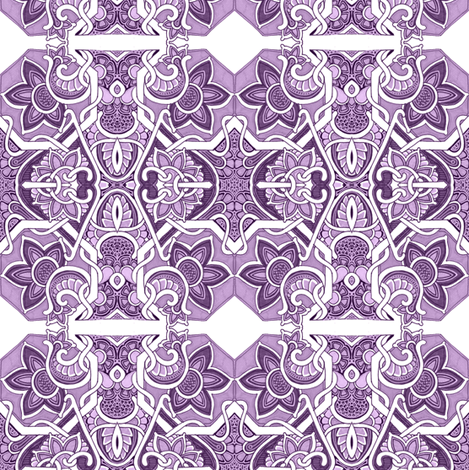 The Purple Garden Path Leads to 1914 fabric by edsel2084 on Spoonflower - custom fabric