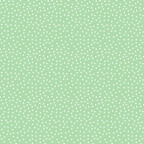Tiny Dots White on Lt Green fabric by dollycraft on Spoonflower - custom fabric
