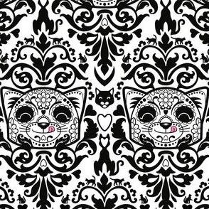 candy_cat_damask_B_W