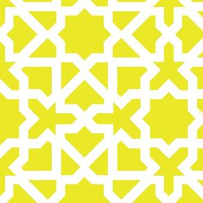 Marrakesch xxl mustard-white