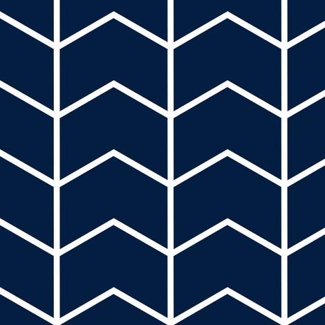 chevron // navy - Rustic Woods Collection fabric by littlearrowdesign on Spoonflower - custom fabric