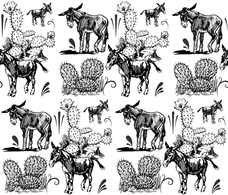 DONKEYS fabric by bluevelvet on Spoonflower - custom fabric