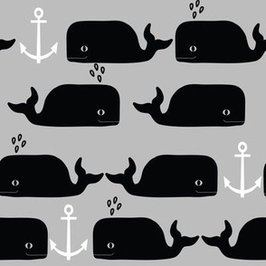 whale anchor nautical greyscale monochrome minimal swedish kids summer fun cute nursery baby leggings black and white design for trendy baby kids clothes