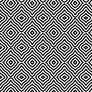 Black and white diamond stripes