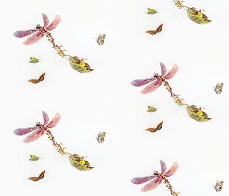 Jenoiserie_Dragonfly_Rickshaw fabric by jenoiserie on Spoonflower - custom fabric