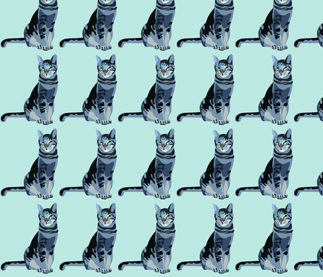 cat-vector fabric by junej on Spoonflower - custom fabric