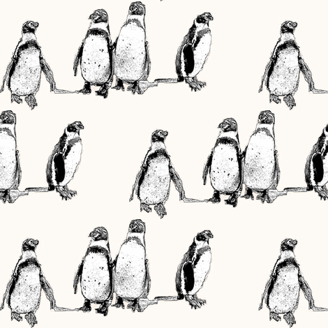 penguins powder fabric by miamea on Spoonflower - custom fabric
