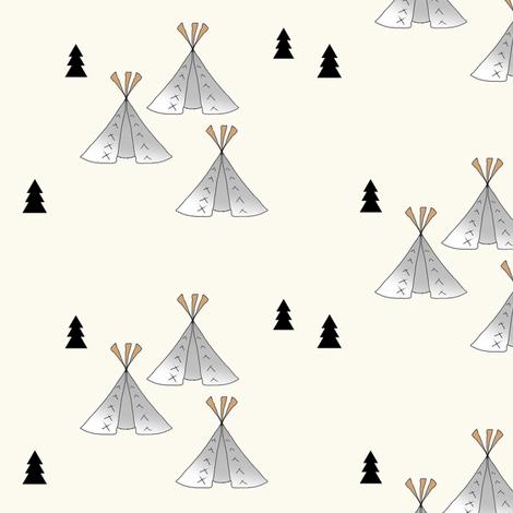 Teepee beige fabric by miamea on Spoonflower - custom fabric