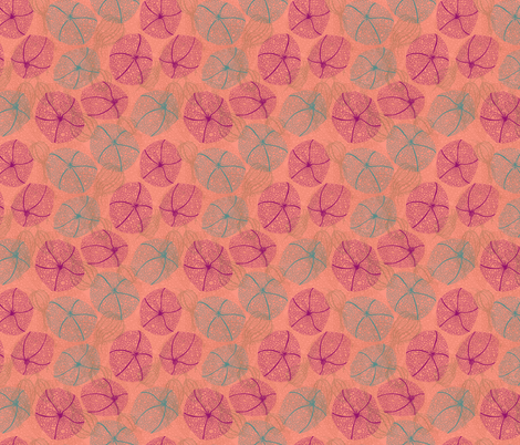 Peachy Physalis fabric by lottibrown on Spoonflower - custom fabric