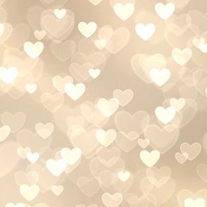 Girly Pink Theme Heart Bokeh Pattern #6 (Sugarcookie color)