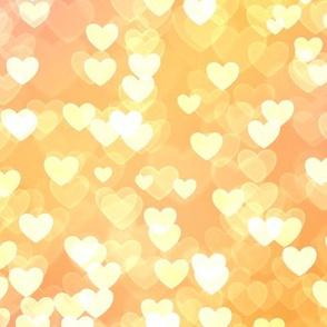 Rainbow Theme Heart Bokeh Pattern #12