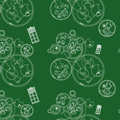 Green Geometric Police Box
