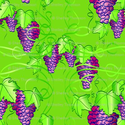 Grape Nouveau - Green Background