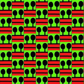 Lollipop Trees Red Green