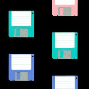 Pastel Floppy Disks