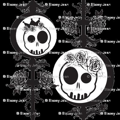 Haunted Skulls - Black & White
