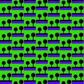 Lollipop Trees Blue Green