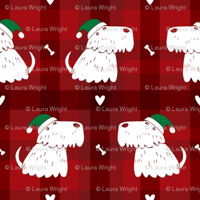 scottish terrier dog christmas