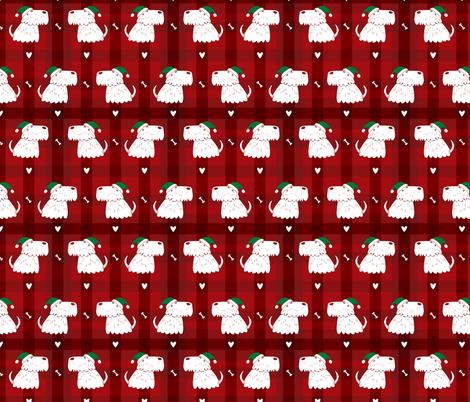 scottish terrier dog christmas fabric by laurawrightstudio on Spoonflower - custom fabric