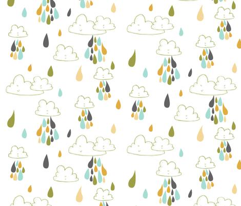 raindrops fabric by laurawrightstudio on Spoonflower - custom fabric