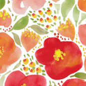 Floral garden watercolor botanical