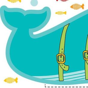Whale pencil case cut and sew fat  quarter