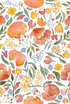Watercolor floral bouquet Nursery