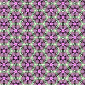 Purple & Magenta Toned Flowered Pattern