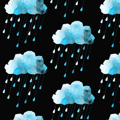 Icey Rain fabric by bddesign on Spoonflower - custom fabric