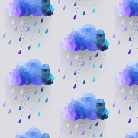 Cool Rain fabric by bddesign on Spoonflower - custom fabric
