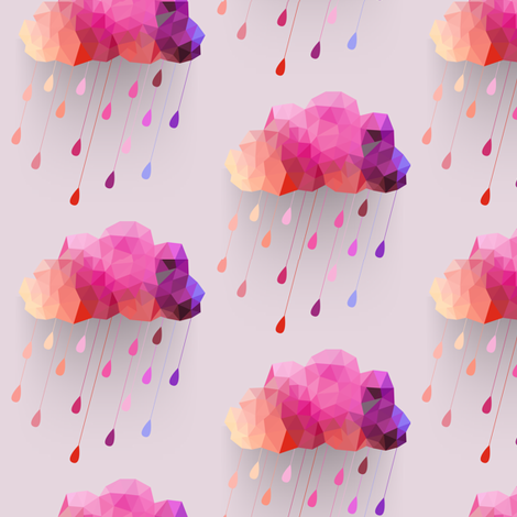 Strawberry Rain fabric by bddesign on Spoonflower - custom fabric